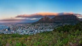 Montagne Afrique du Sud de Tableau de Capetown Images libres de droits