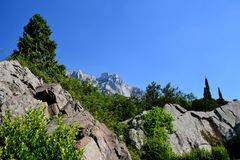 Montagne AI-Pétri Photo libre de droits