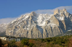 Montagne AI-Petry. La Crimée Image libre de droits