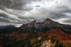 Montagne al mare di re in Berchtesgaden Fotografia Stock