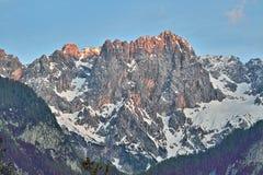 Montagne all'alba Fotografia Stock