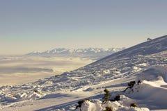 Montagne all'inverno Immagini Stock Libere da Diritti