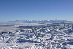 Montagne all'inverno Immagini Stock