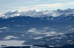 montagne all'inverno Fotografia Stock