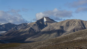 Montagne alle Svalbard, Spitzbergen Fotografia Stock Libera da Diritti