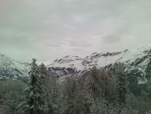 Montagne, Alpes, Puy Saint Vincent, Frankrijk Stock Afbeeldingen
