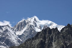 Montagne alpestre Photographie stock libre de droits