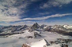 Montagne alpine Fotografia Stock Libera da Diritti