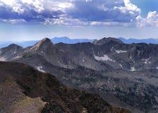 montagne alpine della cresta Fotografia Stock Libera da Diritti
