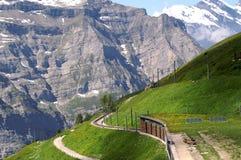 Montagne alpine delle alpi Fotografie Stock