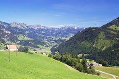 Montagne alpine di estate Fotografie Stock Libere da Diritti