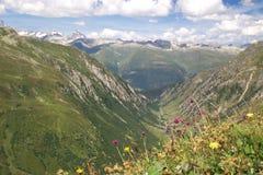 Montagne alpine di estate Fotografia Stock Libera da Diritti