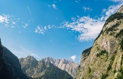 Montagne alpine nel parco nazionale di Berchtesgaden, Germania Immagine Stock Libera da Diritti