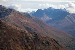 Montagne alpine nella caduta Fotografia Stock Libera da Diritti