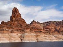 Montagne altamente erose di Glen Canyon Fotografie Stock