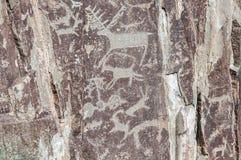 Montagne antiche della roccia dei disegni Immagine Stock Libera da Diritti
