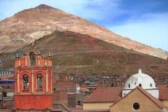 Montagne argentée dans Potosi Image libre de droits