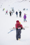 Montagne attive estreme di inverno del bambino dello sci del ragazzo Immagine Stock