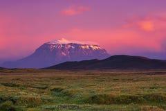 Montagne au coucher du soleil photographie stock
