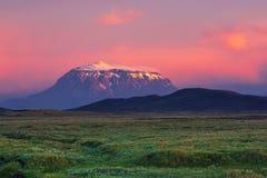 Montagne au coucher du soleil images libres de droits