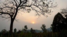 Montagne au coucher du soleil Image libre de droits