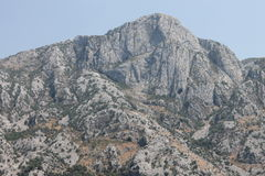 Montagne au-dessus de baie de Kotor Photographie stock libre de droits