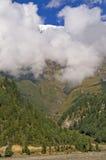 Montagne au Népal Photo stock