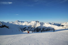 Montagne in Austria alpi Fotografia Stock Libera da Diritti
