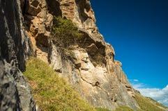 Montagne avec des nuages Photo libre de droits