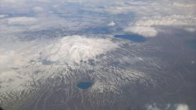 Montagne avec le chapeau de neige Image libre de droits