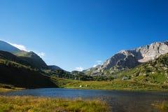 Montagne avec le lac Photo libre de droits