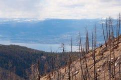 Montagne avec le lac Photos libres de droits