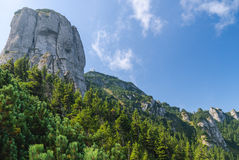 Montagne avec les murs rocheux Photographie stock