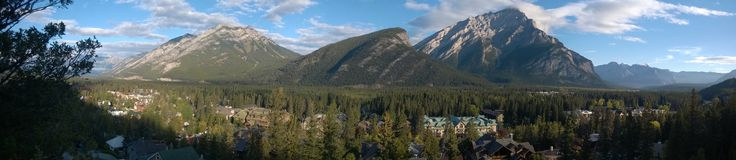 Montagne banff de tunnel panoramique Photo stock