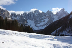 Montagne bianche Fotografia Stock Libera da Diritti