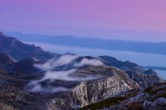Montagne Biokovo en Croatie Images libres de droits