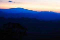 Montagne blu Immagine Stock