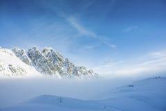 Montagne in blu Immagini Stock Libere da Diritti