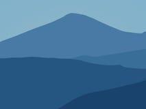 Montagne blu immagine stock libera da diritti