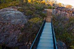 Montagne blu Australia del ponte dell'allerta d'acciaio della montagna Fotografia Stock Libera da Diritti