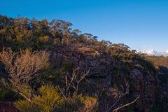 Montagne blu Australia dell'allerta della montagna Immagini Stock Libere da Diritti