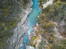 Montagne blu Australia dell'insenatura fresca della montagna Fotografie Stock
