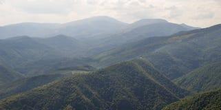 Montagne boscose in Bulgaria Immagine Stock