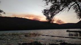 Montagne brûlante Photo libre de droits