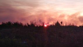 Montagne brûlante Images libres de droits