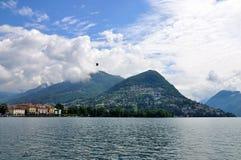 Montagne Bre sur le lac lugano, Suisse Images libres de droits