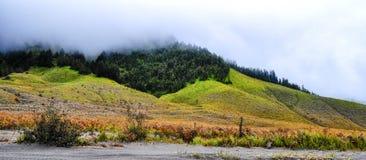 Montagne brumeuse photos stock