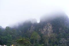 Montagne brumeuse Photographie stock libre de droits