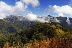 Montagne célèbre de Hehuan d'horizontal de Taiwan Photo stock