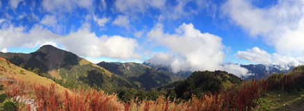 Montagne célèbre de Hehuan d'horizontal de Taiwan Photos libres de droits